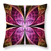 Textured Flower Throw Pillow