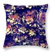 Textured Garden Succulents Throw Pillow