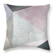 Textured Geometric Triangles Throw Pillow
