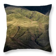 Textured Hills Panoramic Throw Pillow