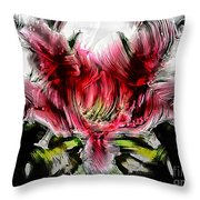 Textured Lily Throw Pillow