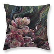 Textured Pink Petals Throw Pillow