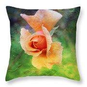 Textured Rose 3 Throw Pillow