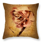 Textured Rose Throw Pillow