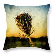 Textured Seedhead. Throw Pillow