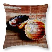 Textured Shells Throw Pillow