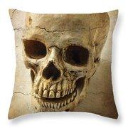 Textured Skull Throw Pillow