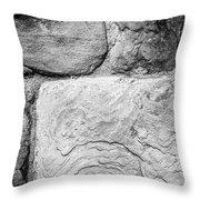 Textured Stone Wall Throw Pillow