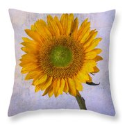 Textured Sunflower Throw Pillow