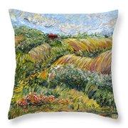 Textured Tuscan Hills Throw Pillow
