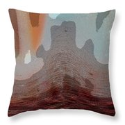 Textured Waves Throw Pillow
