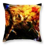 Textured Wolf Throw Pillow