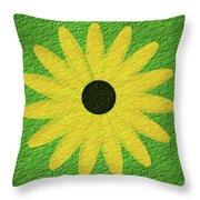 Textured Yellow Daisy Throw Pillow
