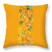 Textured Yellow Sunflowers Throw Pillow