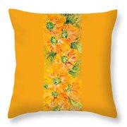 Textured Yellow Sunflowers Throw Pillow