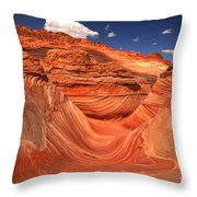Textures Lines And Clouds At The Wave Throw Pillow