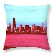 Textures Of Chicago Throw Pillow