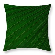 Texturized Palm Leaf Throw Pillow