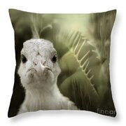 Th White Peacock Throw Pillow