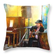 Tha Hambone Gallery In Clarksdale Throw Pillow
