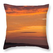 Thacher Island Lighthouse Panoramic Throw Pillow