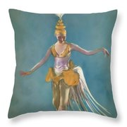 Thai Ballerina Throw Pillow