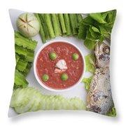 Thai Chili Paste Throw Pillow