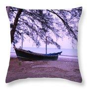 Thai Fishing Boat 04 Throw Pillow