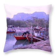 Thai Fishing Boats 05 Throw Pillow