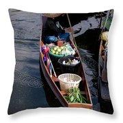 Thai Floating Village 1 Throw Pillow