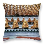 Thai Temple Roof Throw Pillow