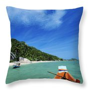 Thailand Boat Throw Pillow
