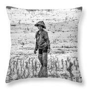 Thailand Rice Planter Throw Pillow