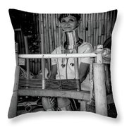 Thailands Long Neck Women Throw Pillow
