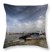 Thames Clipper And Cable Car Throw Pillow