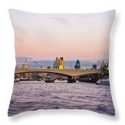 Thames Glow Throw Pillow