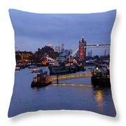 Thames Riverside Throw Pillow