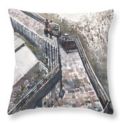 Thames Riverwalk Throw Pillow