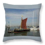 Thames Sailing Barge 'alice' Throw Pillow