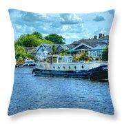 Thames Tug Boat Throw Pillow
