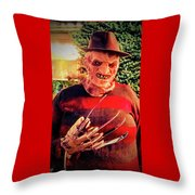 Things Can Get Ugly Fast On Halloween  Throw Pillow