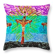 Thank God For Good Friday 3 Throw Pillow