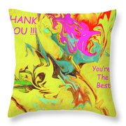 Thank You Card Abstract Lilac Breasted Roller Throw Pillow