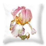 Thank You Greeting Items - Bearded Iris Throw Pillow