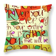 Thank You Prayer - Mmtyp Throw Pillow