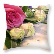 Thank You Rose Bouquet  Throw Pillow