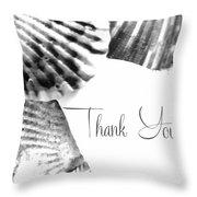 Thank You Seashell Throw Pillow