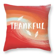 Thankful- Art By Linda Woods Throw Pillow