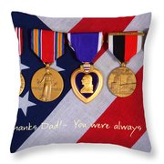 Thanks Dad - You Were Always My Hero Throw Pillow