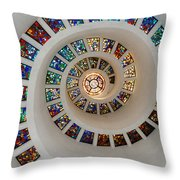 Thanks Giving Chapel Dallas Oil Paint Filter Throw Pillow